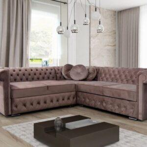 Chester Field Corner Sofa Bed